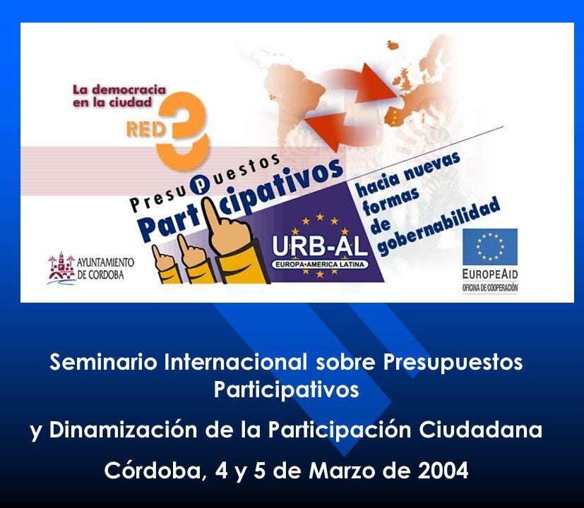 Seminario Internacional sobre Presupuestos Participativos