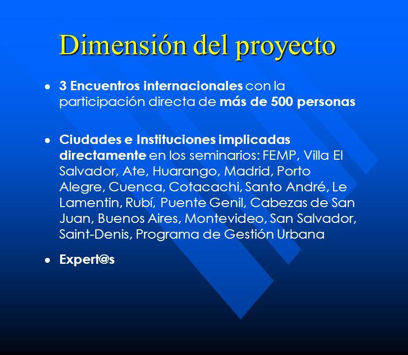 Dimensión del proyecto