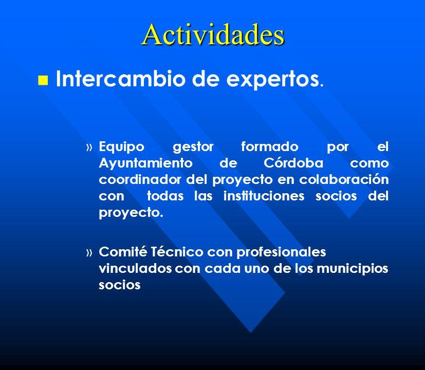 Actividades Intercambio de expertos.