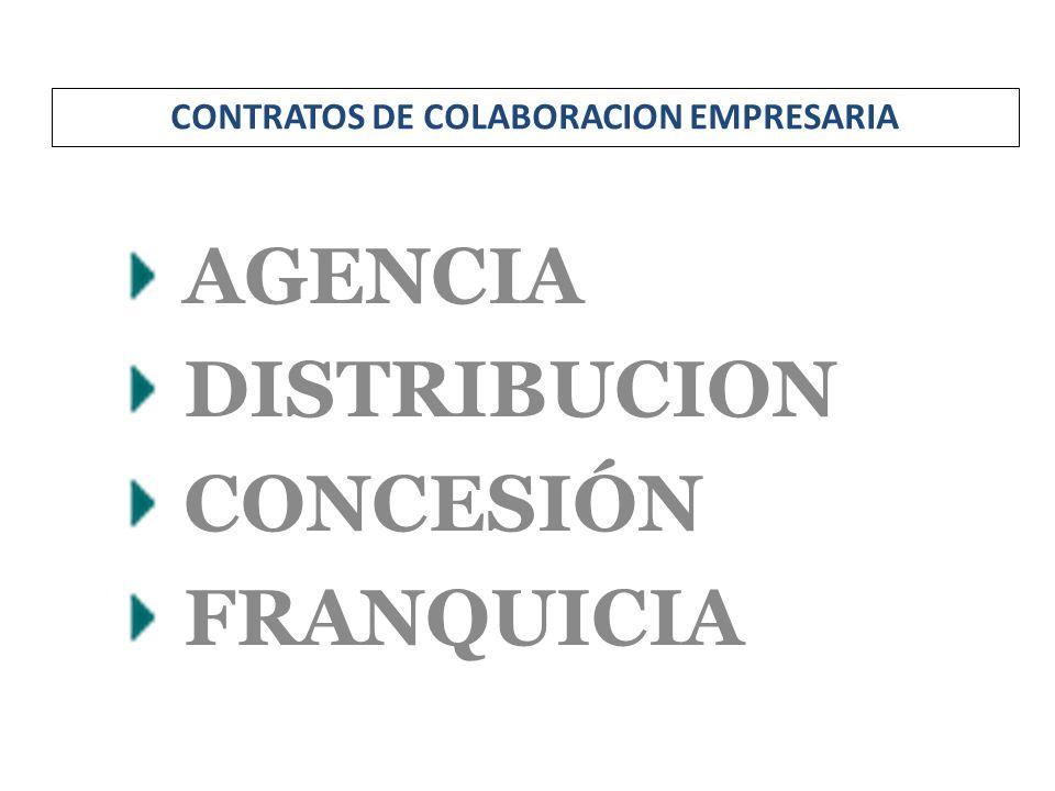 AGENCIA DISTRIBUCION CONCESIÓN FRANQUICIA