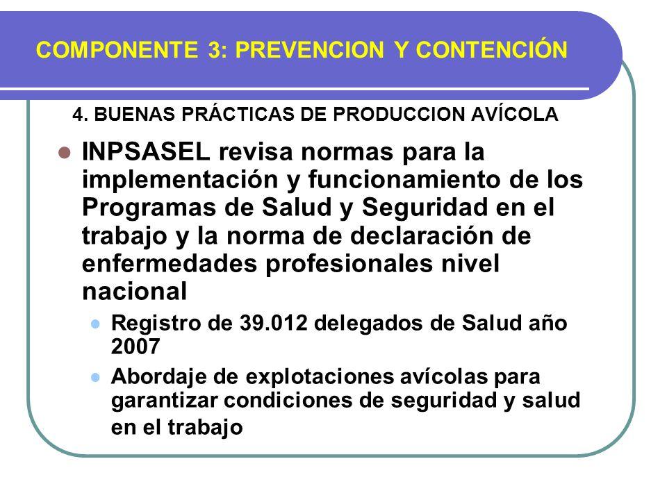 4. BUENAS PRÁCTICAS DE PRODUCCION AVÍCOLA