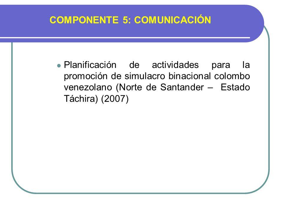 COMPONENTE 5: COMUNICACIÓN