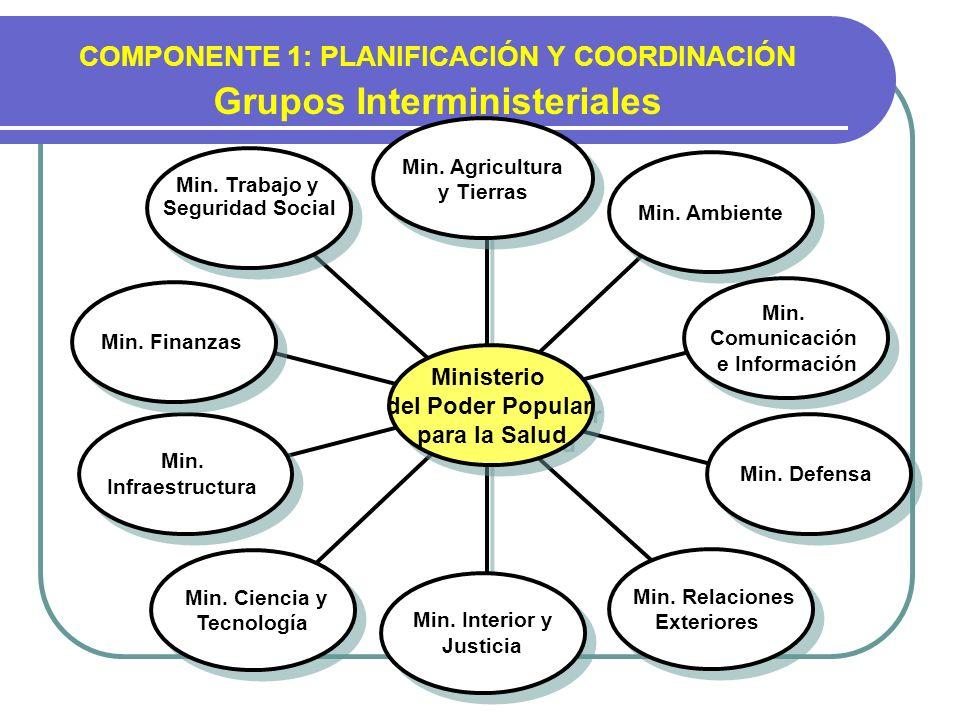 COMPONENTE 1: PLANIFICACIÓN Y COORDINACIÓN Grupos Interministeriales