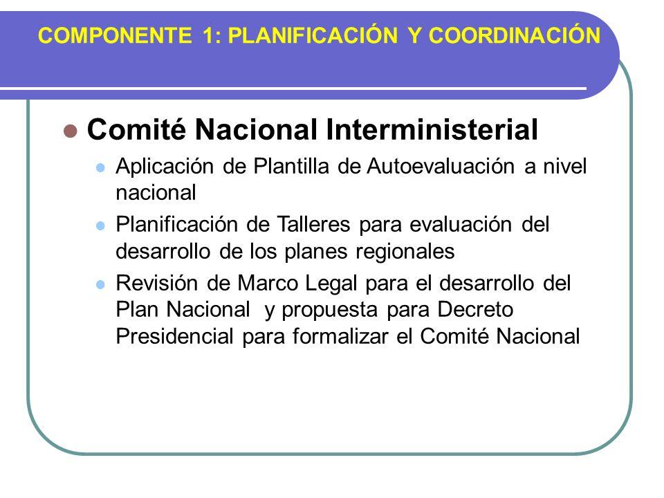 COMPONENTE 1: PLANIFICACIÓN Y COORDINACIÓN