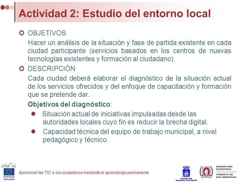 Actividad 2: Estudio del entorno local