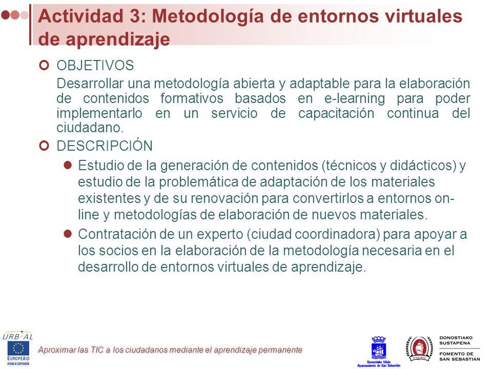 Actividad 3: Metodología de entornos virtuales de aprendizaje