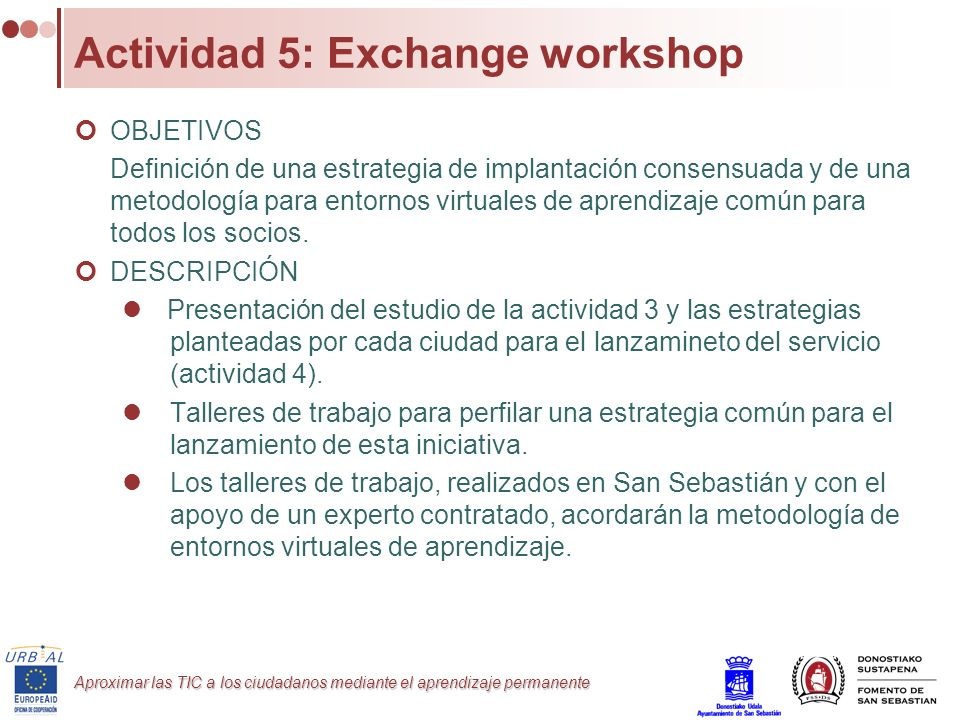 Actividad 5: Exchange workshop