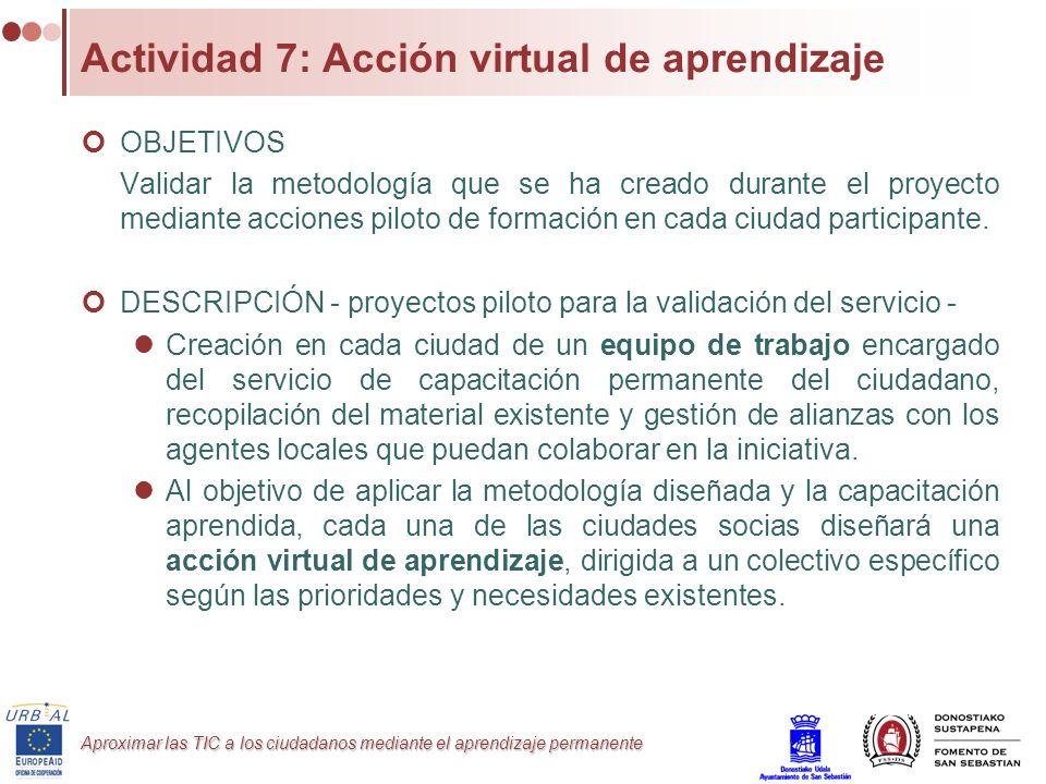Actividad 7: Acción virtual de aprendizaje