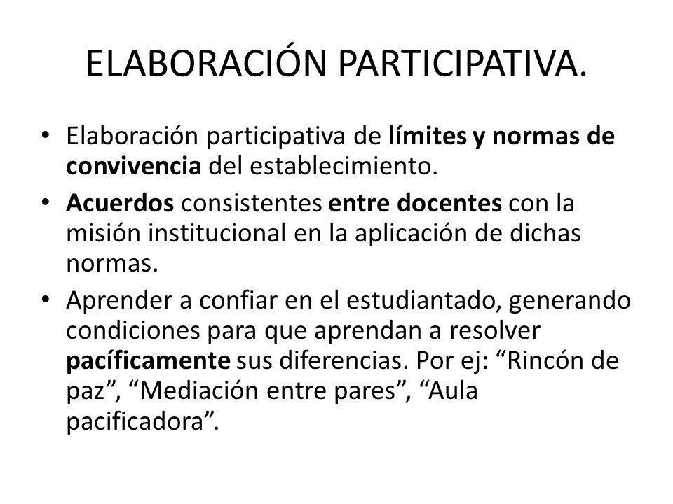 ELABORACIÓN PARTICIPATIVA.