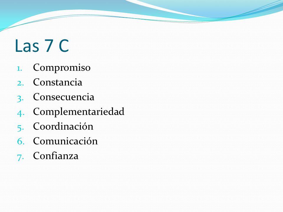 Las 7 C Compromiso Constancia Consecuencia Complementariedad