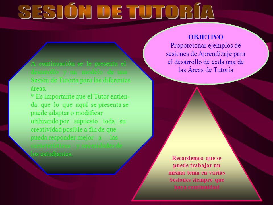 SESIÓN DE TUTORÍA OBJETIVO