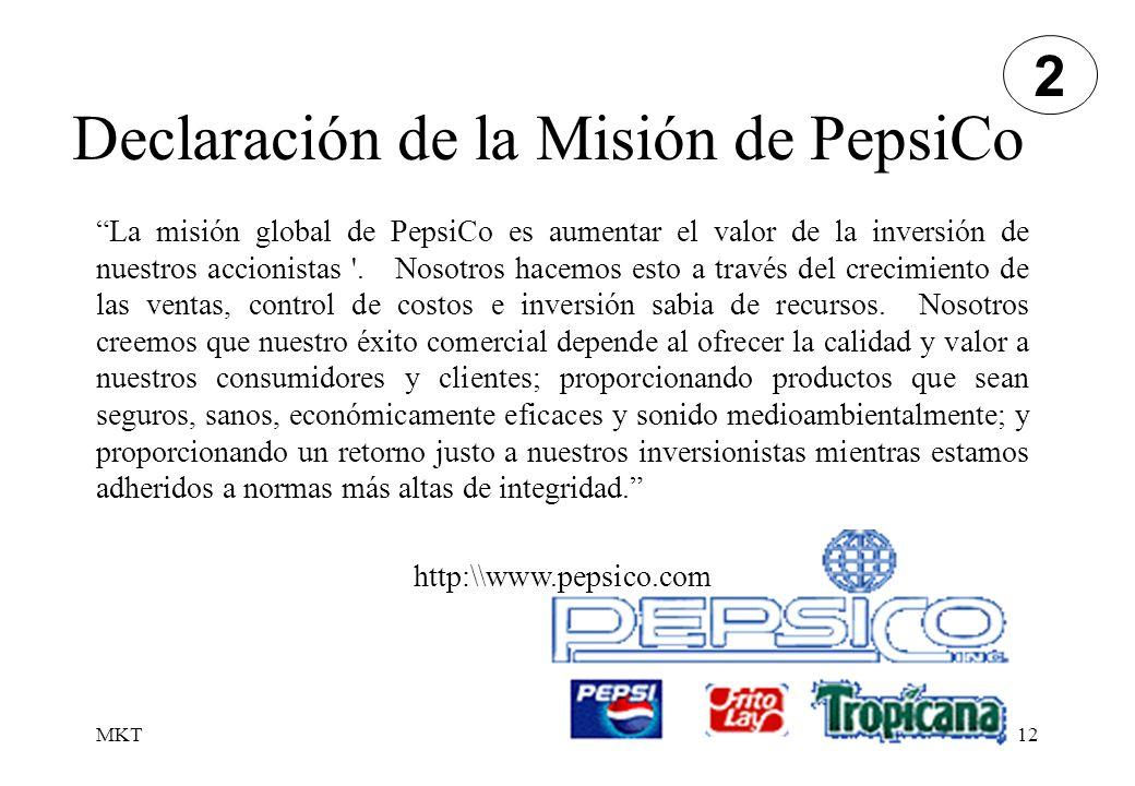 Declaración de la Misión de PepsiCo