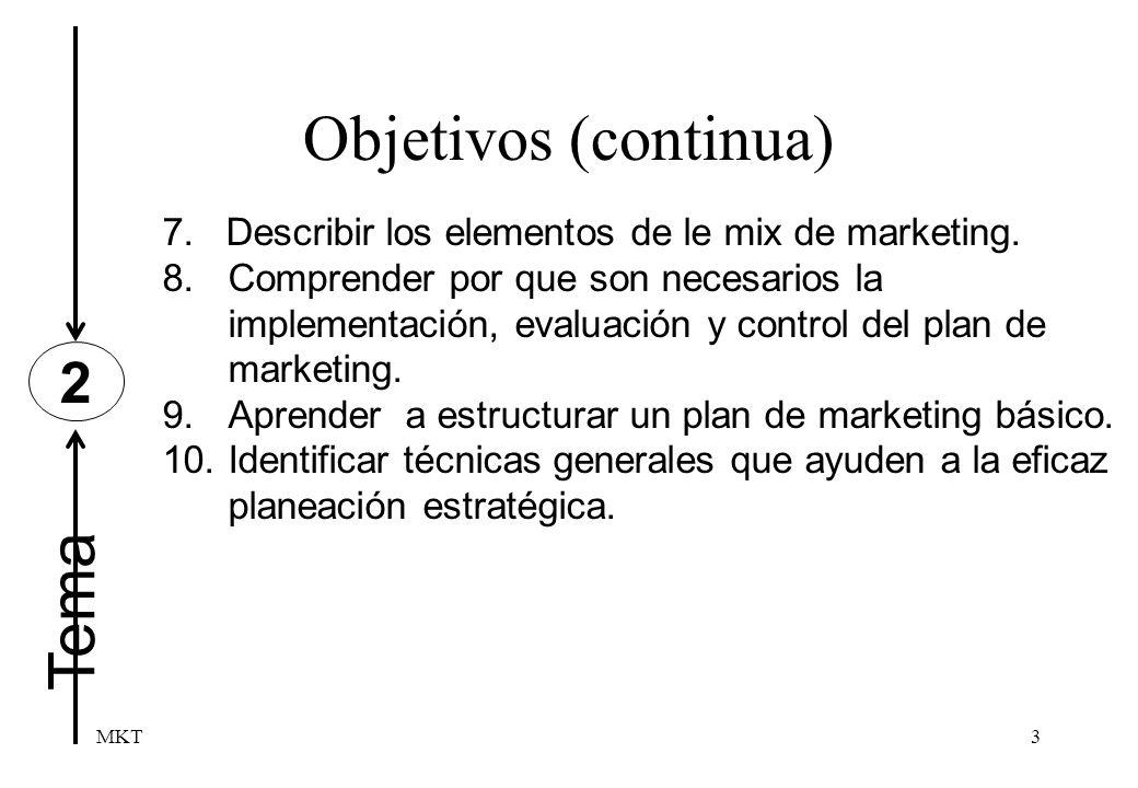 Objetivos (continua) Tema 2