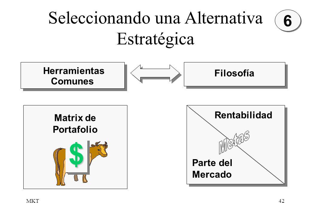Seleccionando una Alternativa Estratégica