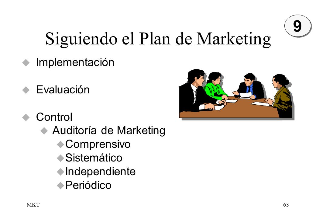 Siguiendo el Plan de Marketing