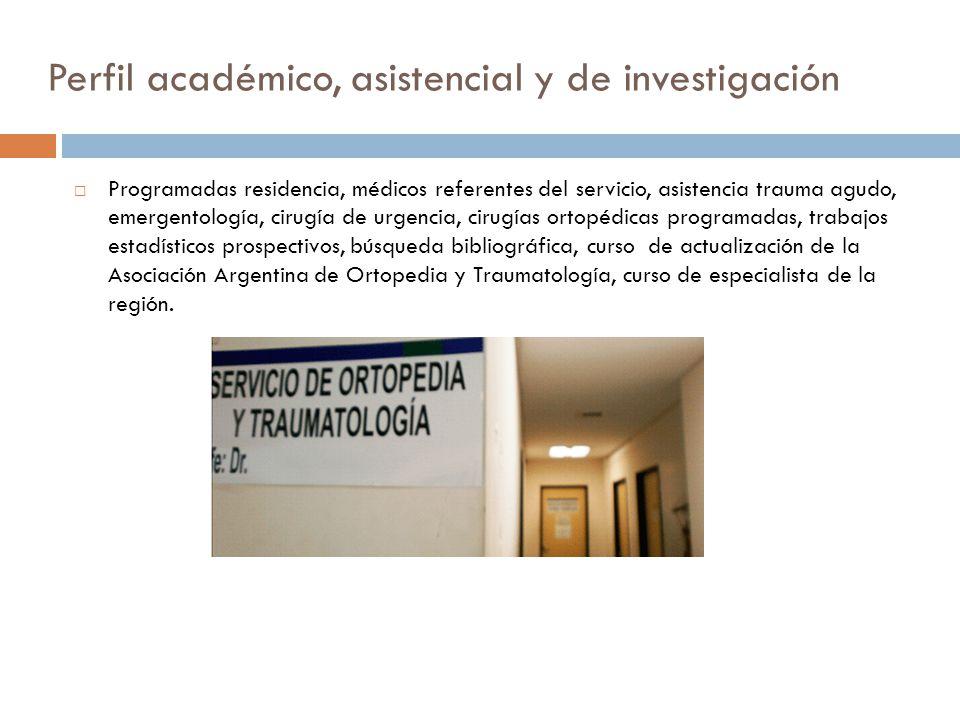 Perfil académico, asistencial y de investigación