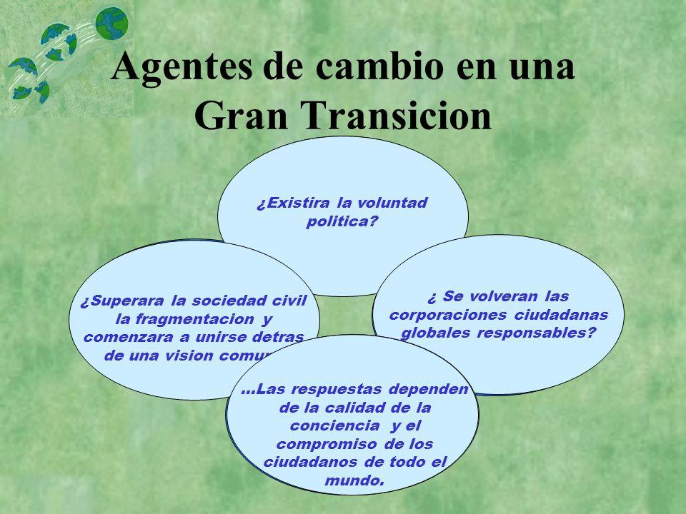 Agentes de cambio en una Gran Transicion