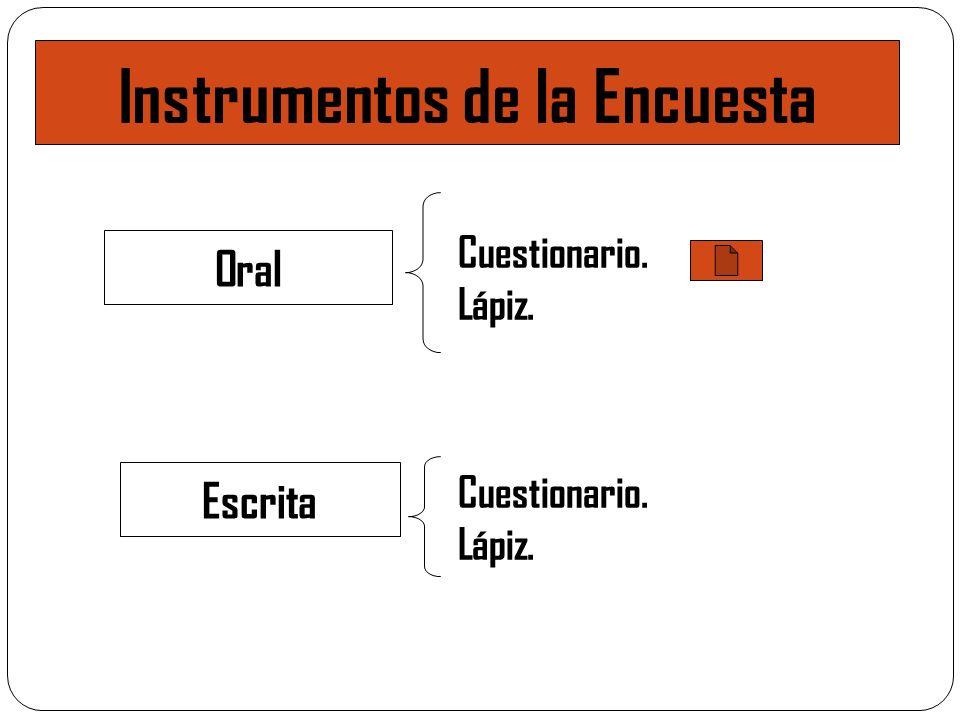 Instrumentos de la Encuesta