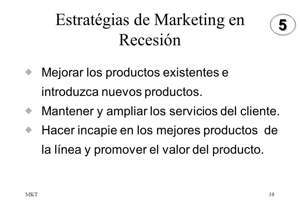 Estratégias de Marketing en Recesión