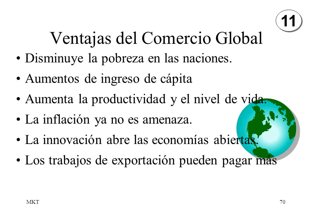 Ventajas del Comercio Global