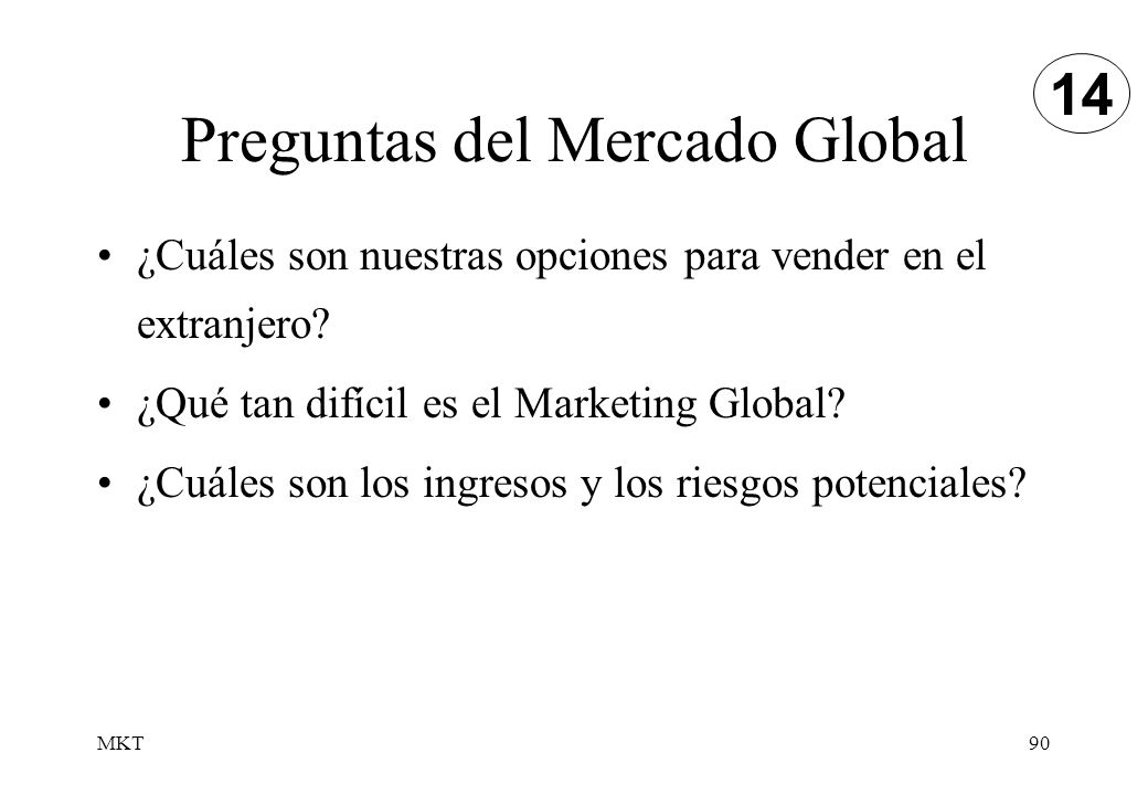 Preguntas del Mercado Global