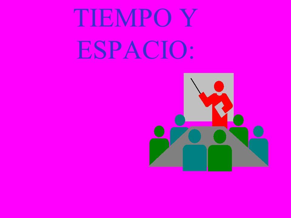 TIEMPO Y ESPACIO: