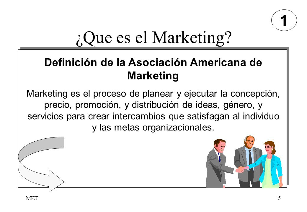 Definición de la Asociación Americana de Marketing