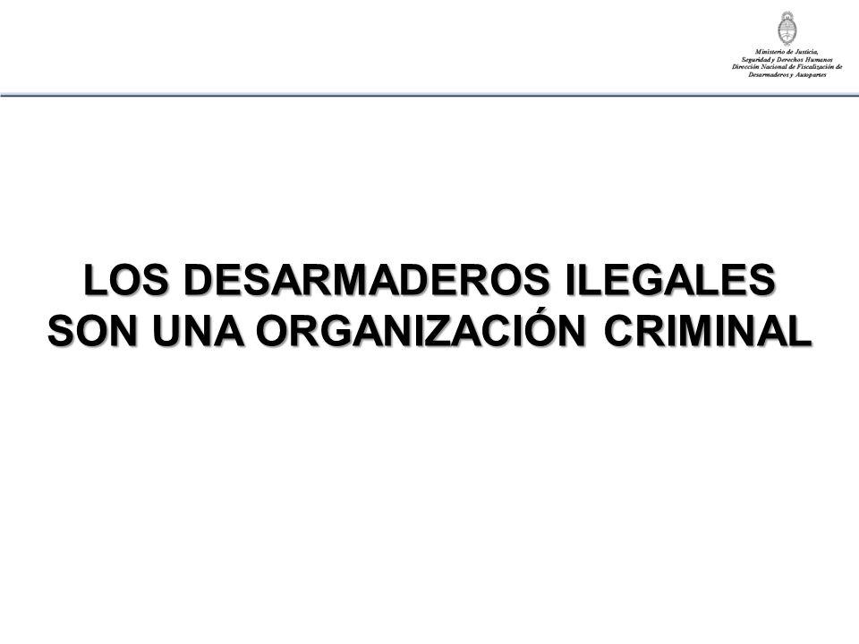 LOS DESARMADEROS ILEGALES SON UNA ORGANIZACIÓN CRIMINAL