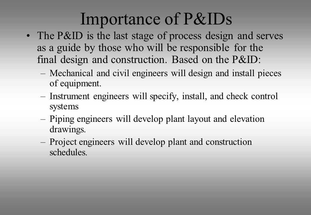 Importance of P&IDs