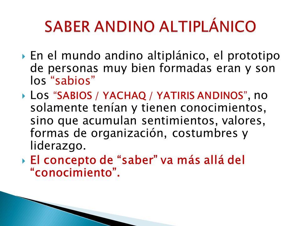 SABER ANDINO ALTIPLÁNICO