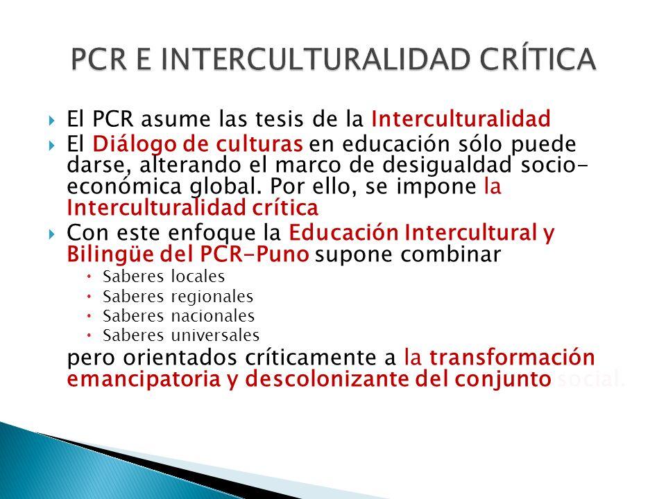 PCR E INTERCULTURALIDAD CRÍTICA