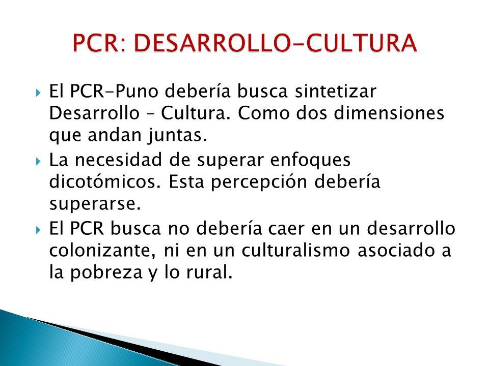 PCR: DESARROLLO-CULTURA