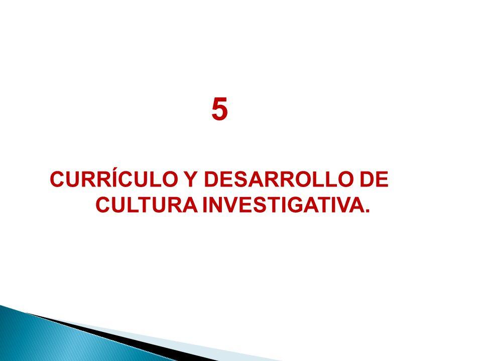 CURRÍCULO Y DESARROLLO DE CULTURA INVESTIGATIVA.