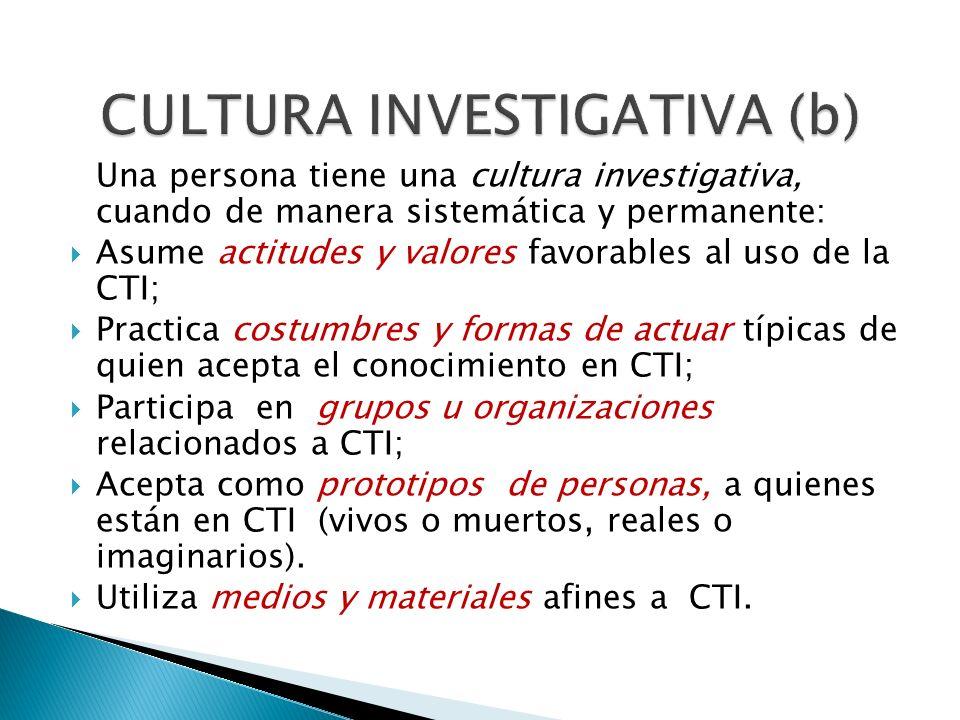 CULTURA INVESTIGATIVA (b)