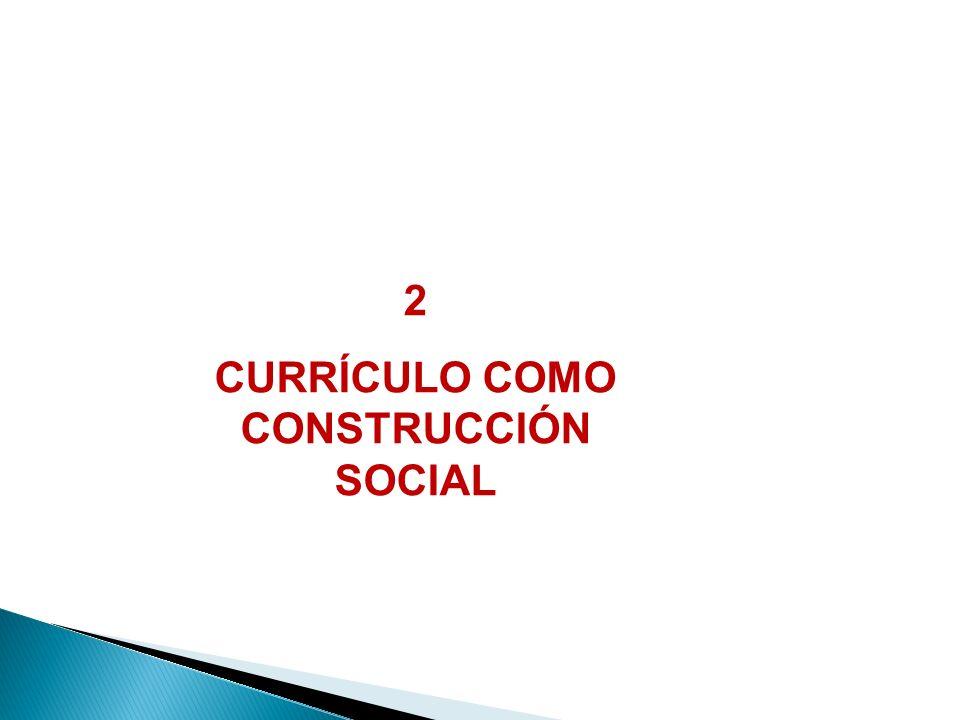 CURRÍCULO COMO CONSTRUCCIÓN SOCIAL
