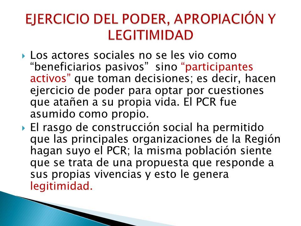 EJERCICIO DEL PODER, APROPIACIÓN Y LEGITIMIDAD