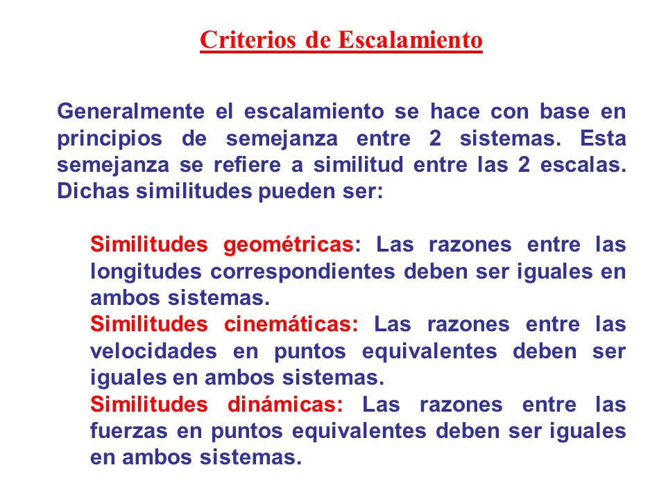 Criterios de Escalamiento