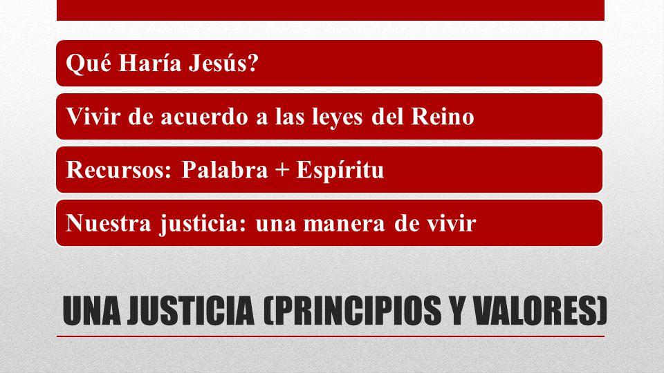 UNA JUSTICIA (PRINCIPIOS Y VALORES)