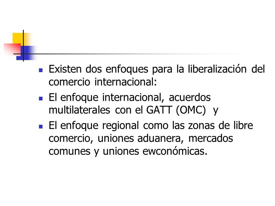 Existen dos enfoques para la liberalización del comercio internacional: