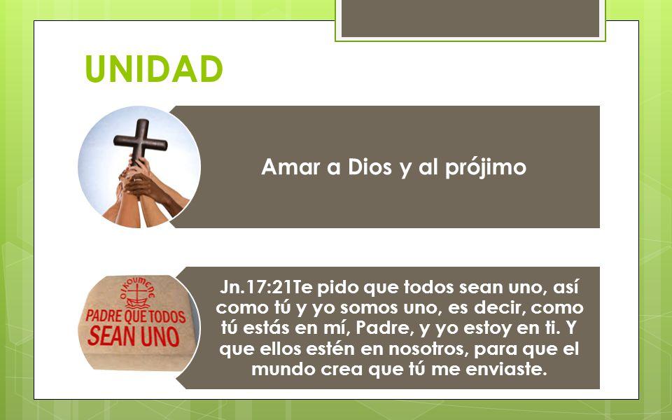 UNIDAD Amar a Dios y al prójimo