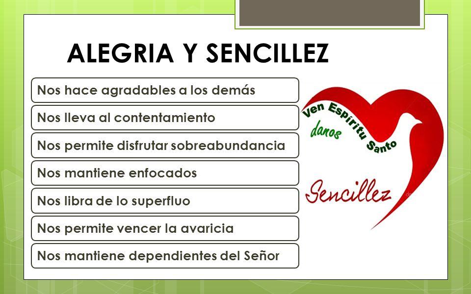 ALEGRIA Y SENCILLEZ ALEGRIA Y SENCILLEZ