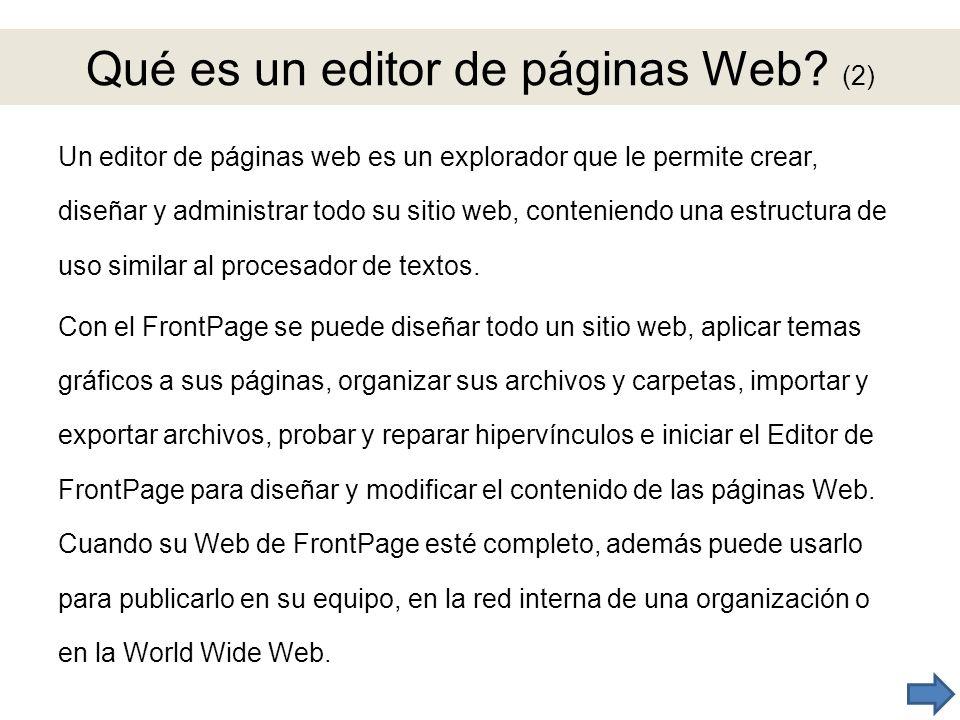 Qué es un editor de páginas Web (2)