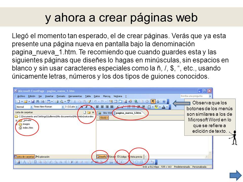 y ahora a crear páginas web