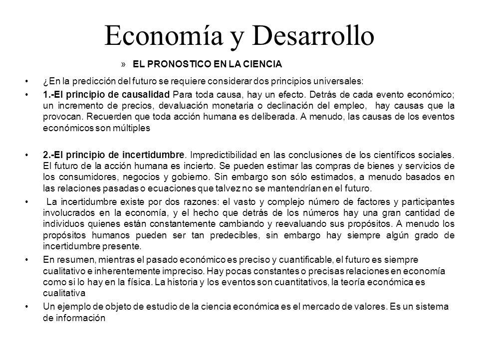 Economía y Desarrollo EL PRONOSTICO EN LA CIENCIA