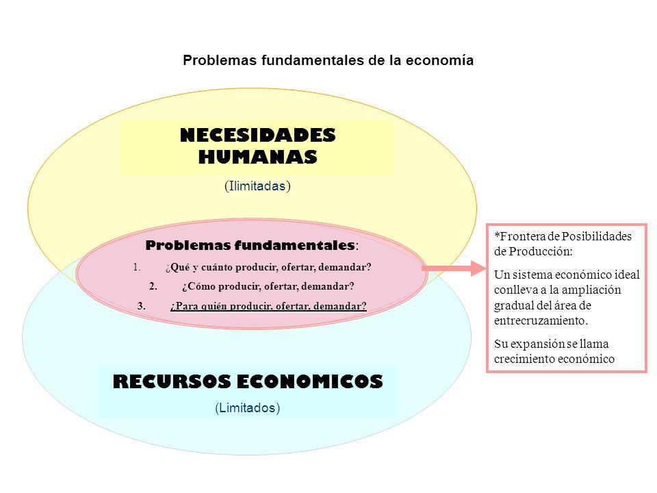 NECESIDADES HUMANAS RECURSOS ECONOMICOS