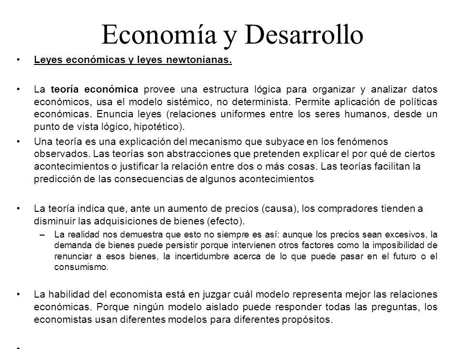 Economía y Desarrollo Leyes económicas y leyes newtonianas.
