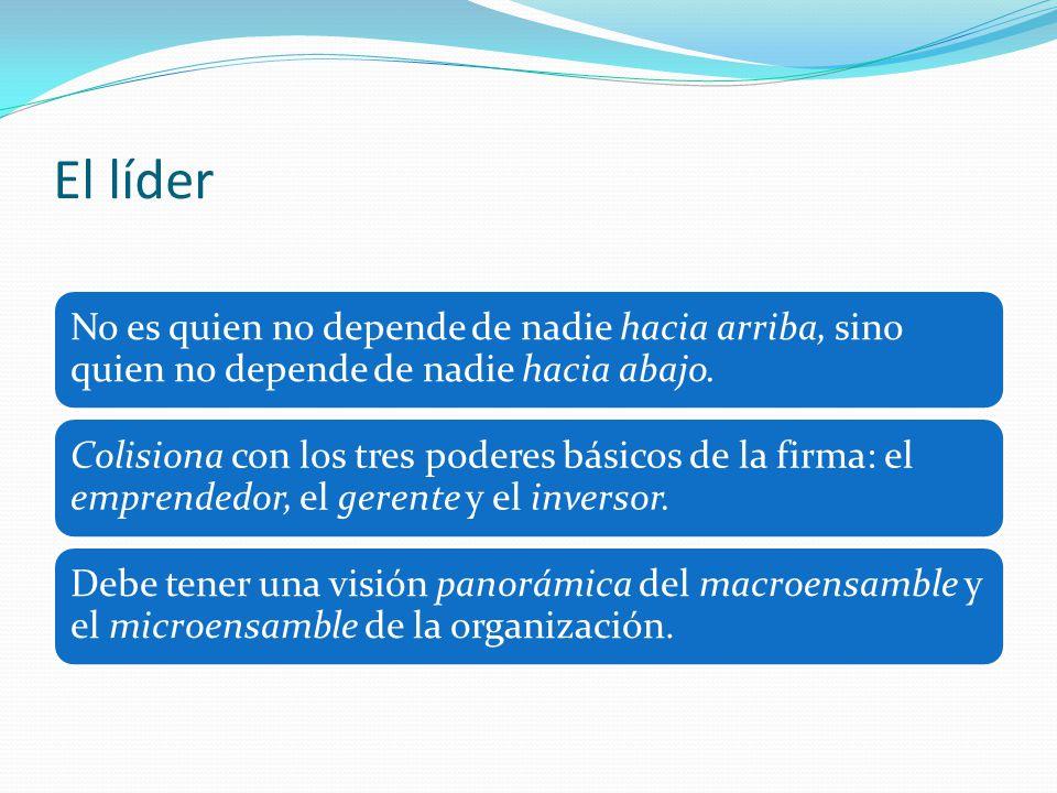 El líder No es quien no depende de nadie hacia arriba, sino quien no depende de nadie hacia abajo.