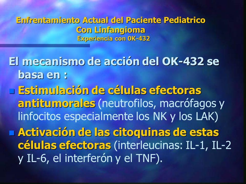 El mecanismo de acción del OK-432 se basa en :