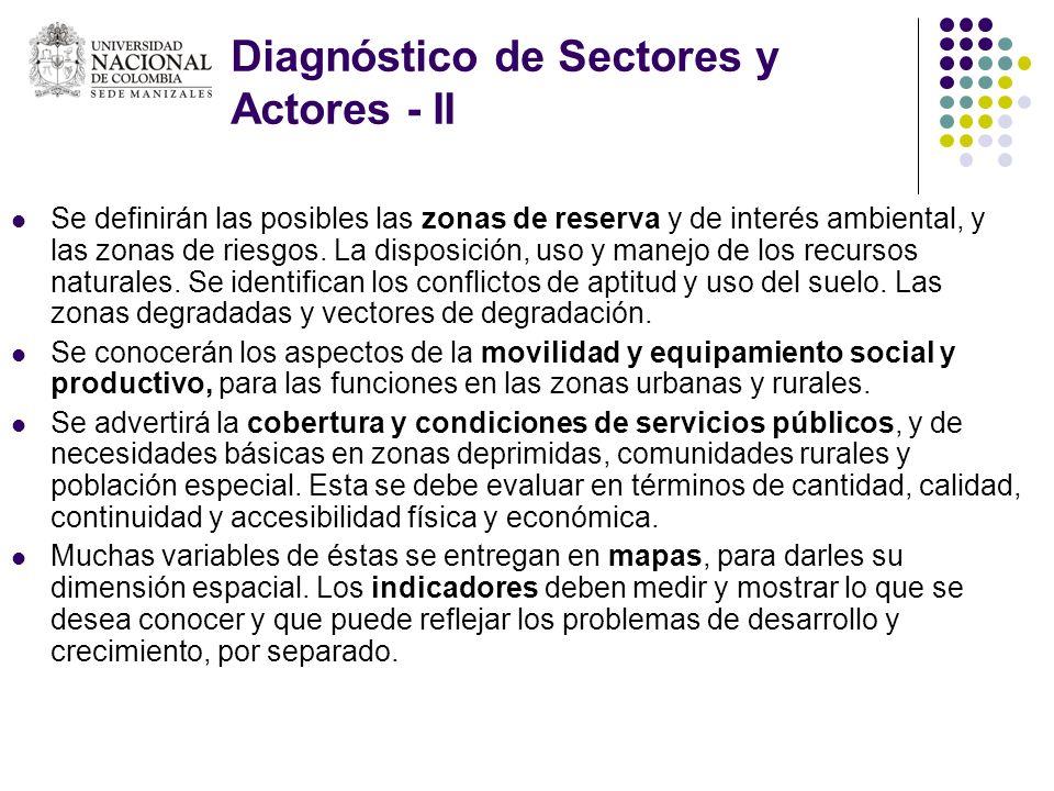 Diagnóstico de Sectores y Actores - II