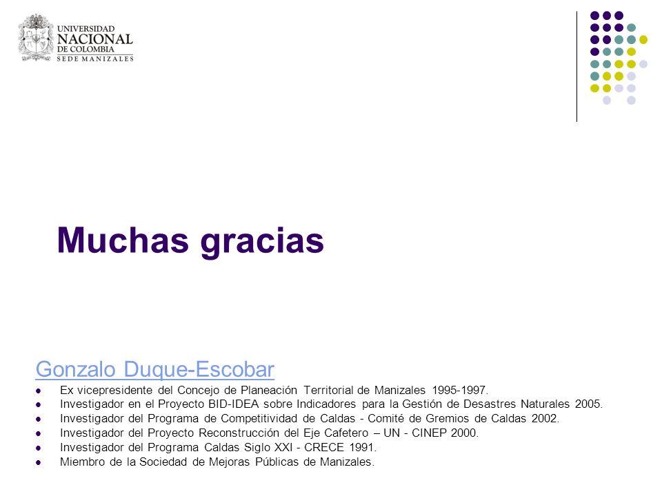 Muchas gracias Gonzalo Duque-Escobar
